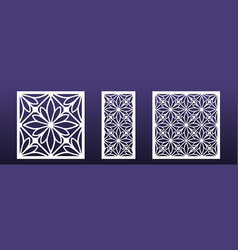 Laser cut panels with modern abstract geometric vector
