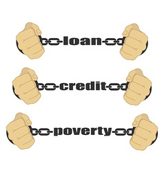Loan credit poverty abstract signs vector