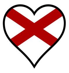 love alabama vector image