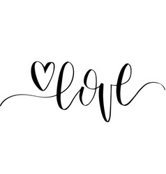 Love hand lettering phrase february 14 vector ...