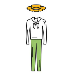 male typical farmer costume icon vector image