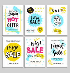 Mobile sale banners template set for shopping vector