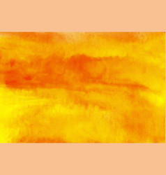 orange watercolor background abstract hand vector image