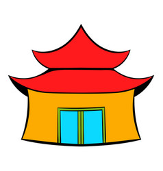 pagoda icon cartoon vector image