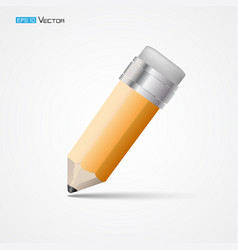 Pencil with eraser isolated 2 vector