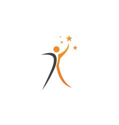 people leader ship success logo and symbols vector image