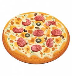 pizza with salami vector image