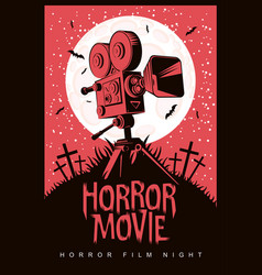 Poster for horror film night horror movie vector