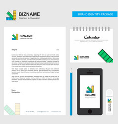 scale business letterhead calendar 2019 and vector image