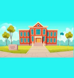 school building educational institution college vector image