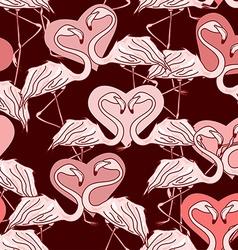 seamless pattern flamingos vector image