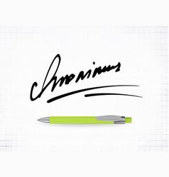 signature anonimus icon vector image