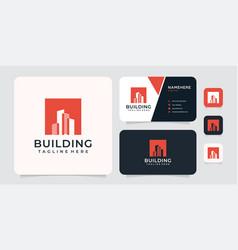 Silhouette building logo concept vector