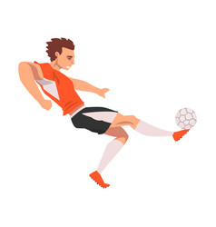 soccer player male athlete character in sports vector image