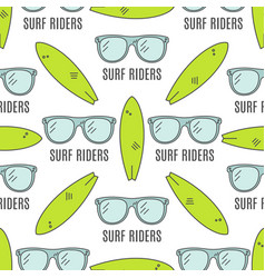 Surfing patterns Summer seamless design with vector image