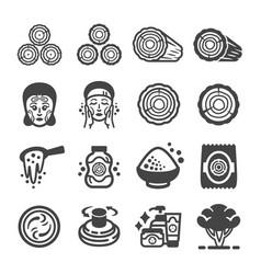 thanaka icon set vector image