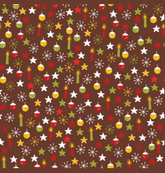 traditional winter christmas doodles vector image