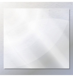 Transparent glass on the gray background vector