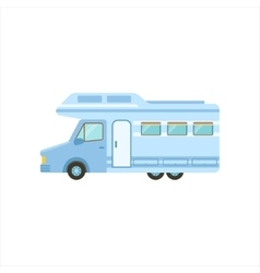 Travel Van Icon Family Motorhome Flat Colorful vector