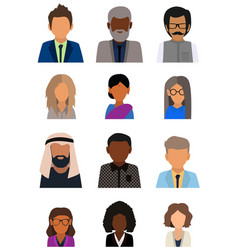 ulticultural society concept man and woman vector image
