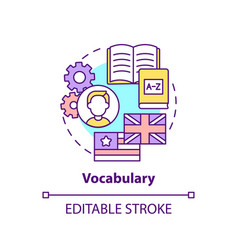vocabulary concept icon vector image