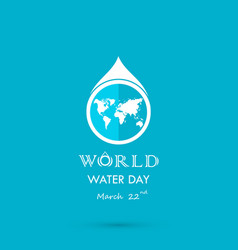 Water drop with world icon logo design vector