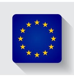 Web button with flag of the EU vector