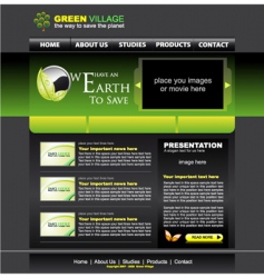 Website green template vector