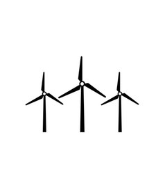 wind turbine icon symbol simple design vector image