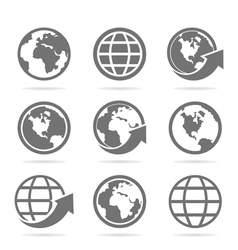 World an icon vector image