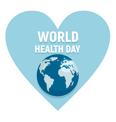 world health day poster vector image