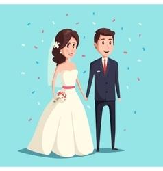 Bride and groom as wedding couple vector image vector image