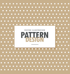 brown polka background design vector image vector image