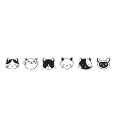 cats collection of icons vector image vector image