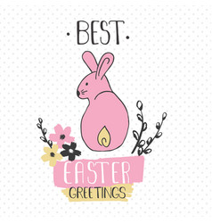 easter greeting card - best easter greetings vector image vector image