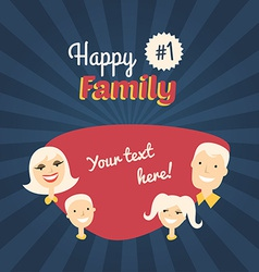 Happy Family Mom Son Dad and Daughter Flat Design vector image
