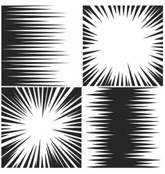 horizontal and radial speed lines graphic manga vector image vector image
