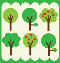 simple trees vector image vector image