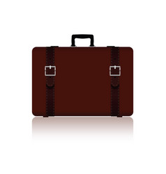 travel bag with belts in brown color one variant vector image vector image