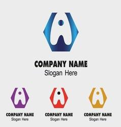A alphabet logo letter A icon vector image vector image
