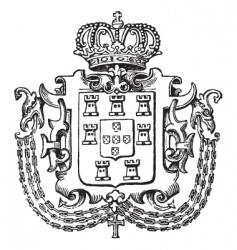 crown crest vector image vector image