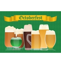 Oktoberfest beer celebration poster Beer vector image