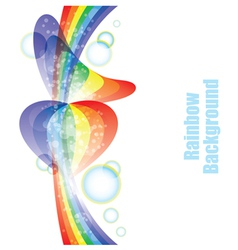 rainbow background vector image vector image