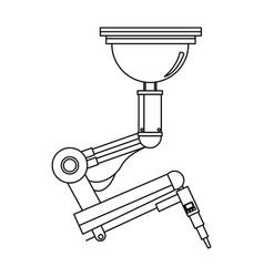 Robotic arm welding steel technology image vector