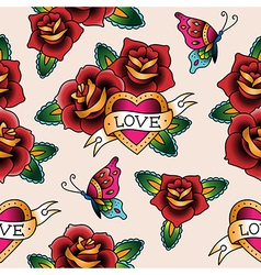 tattoo love pattern vector image vector image