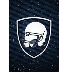 american football badge vector image vector image