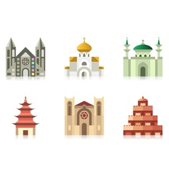 Temples vector image vector image
