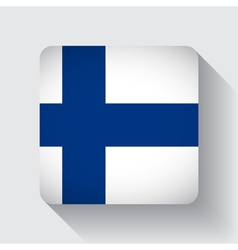 Web button with flag of Finland vector image vector image