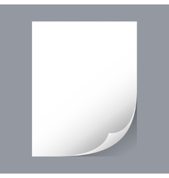 White sheet of paper vector image vector image