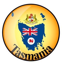 button Tasmania vector image